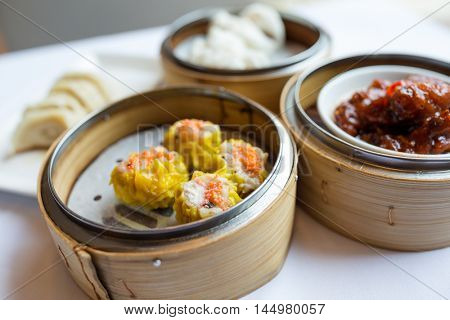 Steamed chinese dim sum