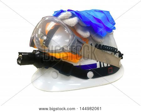 safety helmet on white background. hard hat isolated on white