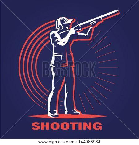 Shooting. logo illustration on a dark background