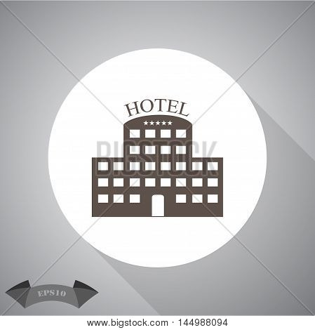 Hotel  Vector icon for web and mobile.
