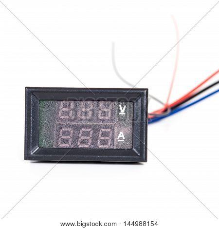 part of digital volt meter for dc volt