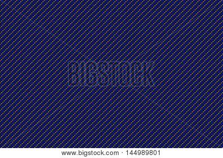 blue and black carbon fiber background and texture for material design. 3d illustration.