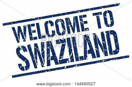 welcome to Swaziland. stamp. grunge square sign