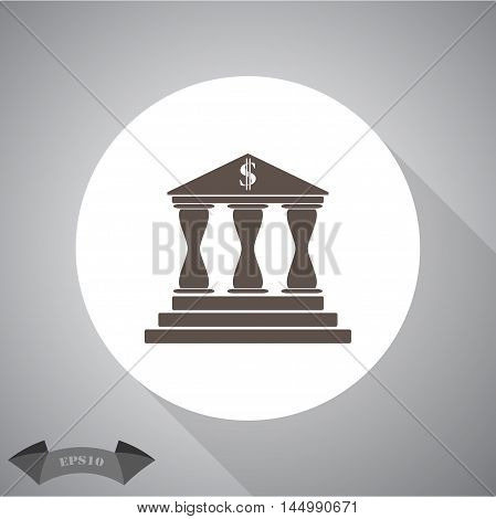 Bank  Vector icon for web and mobile.