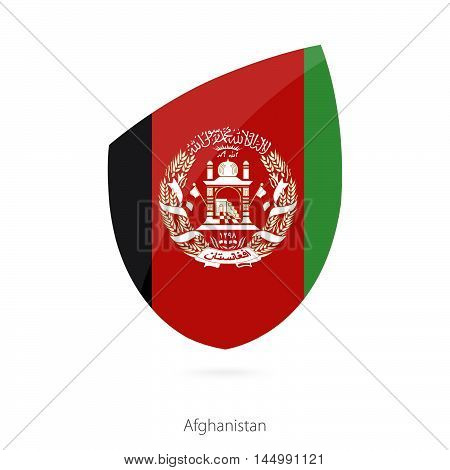 Flag of Afghanistan in the style of Rugby icon. Vector Illustration.
