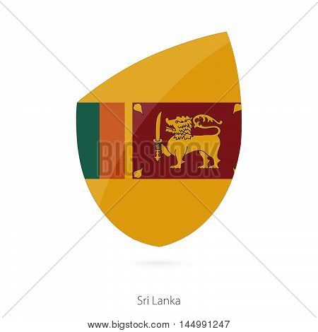 Flag of Sri Lanka in the style of Rugby icon. Vector Illustration.