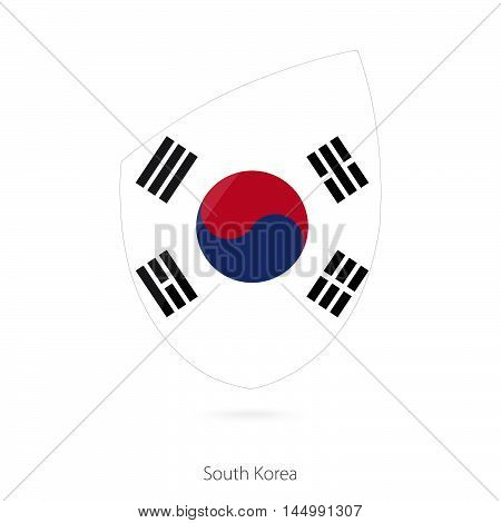 Flag of South Korea in the style of Rugby icon. Vector Illustration.