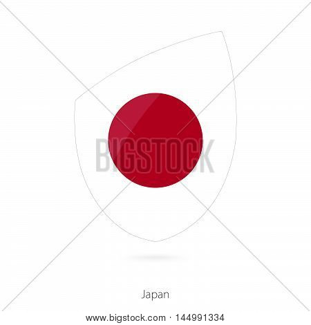 Flag of Japan in the style of Rugby icon. Vector Illustration.