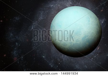 Solar System - Uranus. Elements Of This Image Furnished By Nasa.