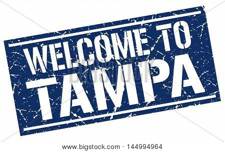 welcome to Tampa. stamp. grunge square sign