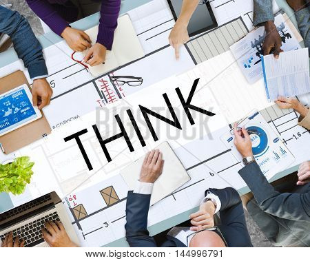 Think Thinking Thoughtful Thoughts Ideas Mind Concept