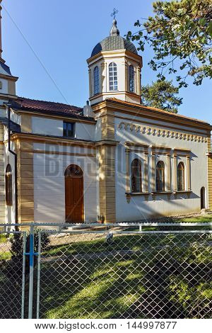 Outside view of The orthodox church Virgin Mary in  Dimitrovgrad, Pirot Region, Republic of Serbia