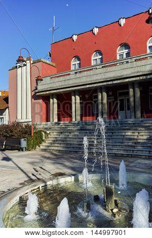 The cultural centre on the main square, Dimitrovgrad, Republic of Serbia