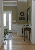 picture of front door  - view of a beautiful homes front foyer - JPG