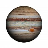 Solar System - Jupiter. Isolated Planet On White Background. poster
