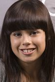 Cute Young Caucasian Girl Smiling poster