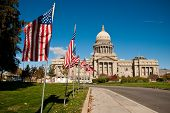 stock photo of boise  - The Idaho State Capitol in Boise - JPG