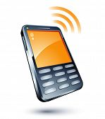 picture of mobile-phone  - Cell Phone - JPG