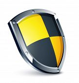 Yellow and black shield