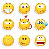 picture of smiley face  - Set of smileys - JPG