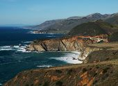 foto of bixby  - a distant view of bixby bridge and the rugged coastline of big sur - JPG