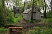 pic of slave-house  - Looking across toward the Spring house at the Hermitage the Home of Andrew Jackson - JPG
