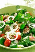 picture of healthy food  - Healthy food salad with tunny and vegetable - JPG