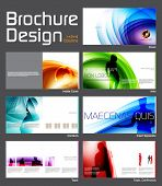 Business Brochure Layout Design Template with 14 pages (7 spreads) Preview.