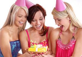 image of happy birthday  - Birthday party isolated on white - JPG