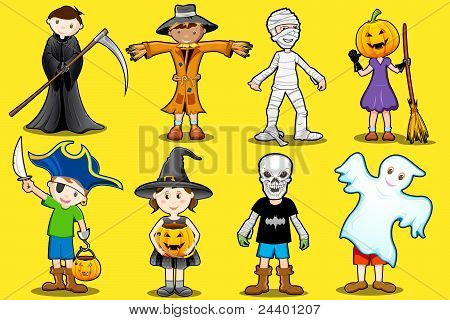 kids in different costume