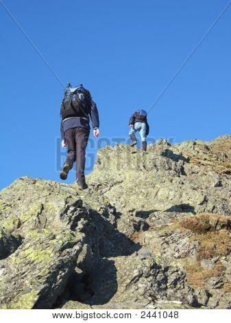 Ascending Hall'S Fell Ridge