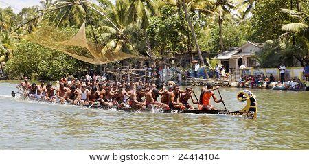 Snake Boat Race Kerala Half Way Finish Line
