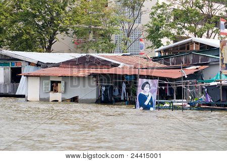 Monsoon Flooding In Bangkok October 2011