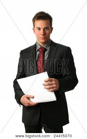 Young Businessmen With Documents