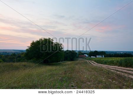 Twilight Over Rural Expanses