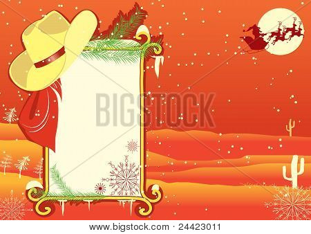 Billboard Frame With Cowboy Hat.vector