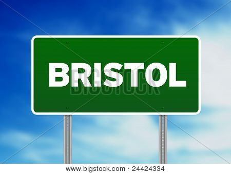 Green Road Sign -  Bristol, England