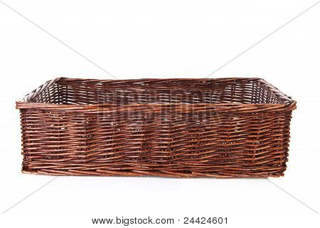 Big Empty Cane Basket
