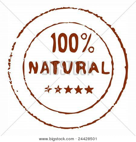 Hundred percent natural rubber stamp
