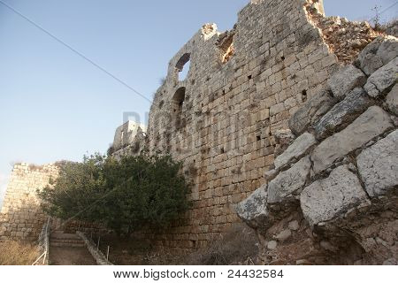 Crusaders Castle Ruins In Galilee