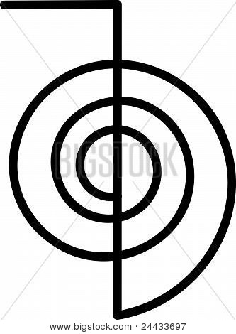 Reiki energia símbolo Cho Ku Rei
