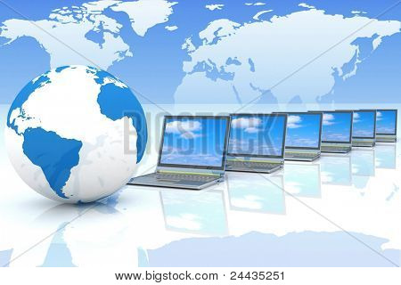 Internet Concept global Business