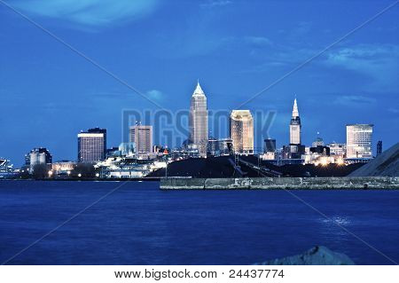 Cleveland After Sunset