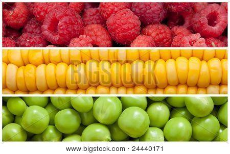 Set of food background