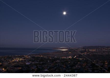 Moon Set Over Dana Point