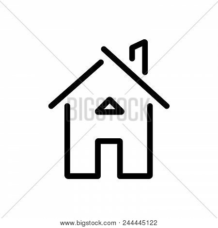 House Building Outlined Symbol Of
