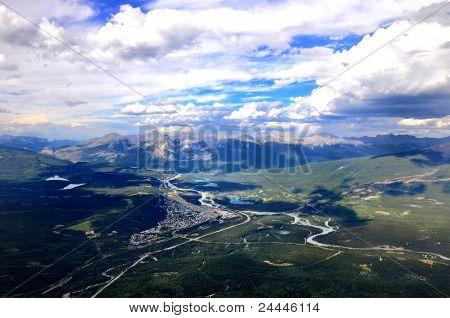 Jasper seen from Mount Whistlers