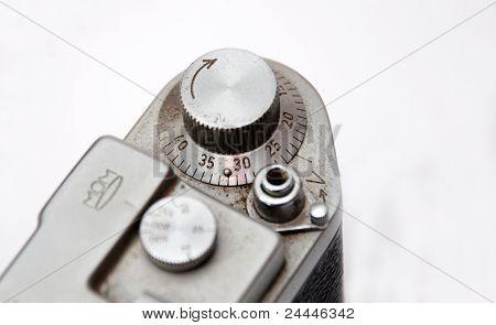 controls of analog photo camera