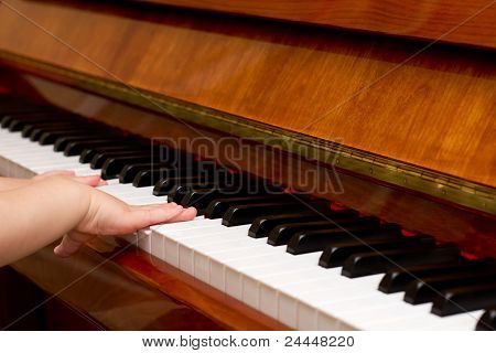 Small Child Playing Piano