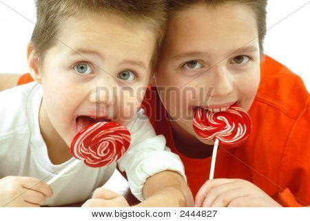 Children With Candy